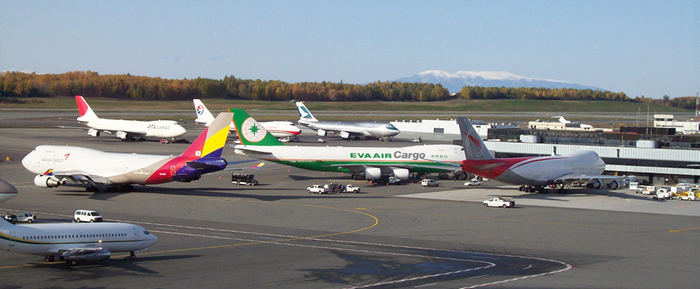 Photo of cargo planes at ANC