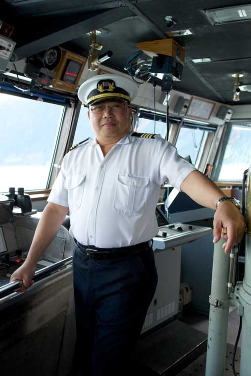Captain of the MV Malaspina © Brian Adams / Alaska Marine Highway System