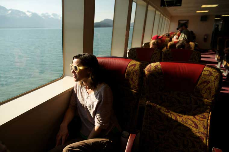 The forward lounge provides a view out in front of the vessel © Brian Adams / Alaska Marine Highway System