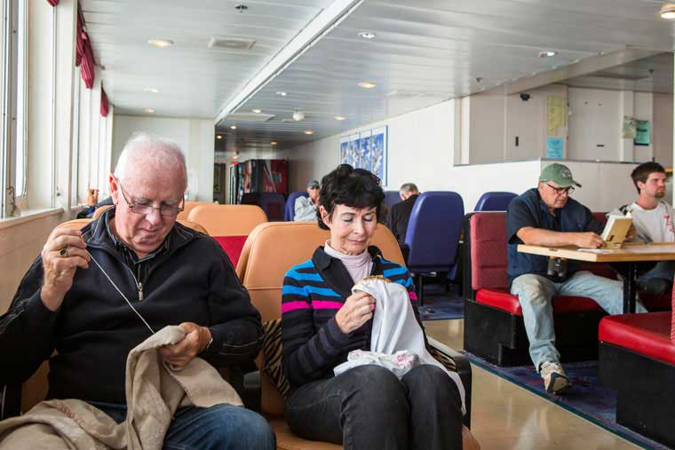 Passengers have choices on where to sit and relax on a journey © Wayde Carroll Photography