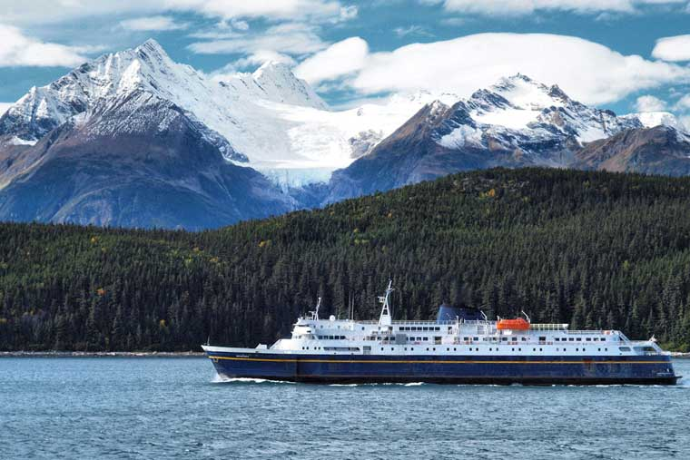 The MV Matanuska arriving into Haines Alaska © Charles Baxter