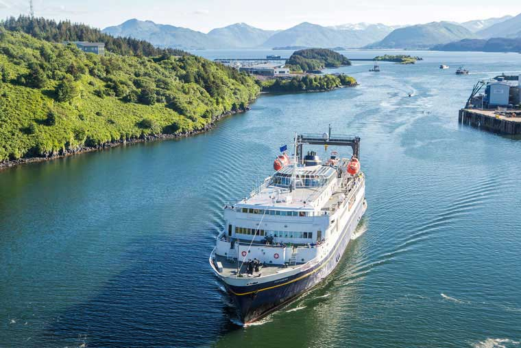 The MV Tustumena arriving Kodiak Alaska © Wayde Carroll Photography