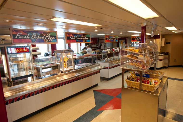 The cafe onboard the <em>MV Kennicott</em> © Joshua Roper / Alaska Marine Highway System