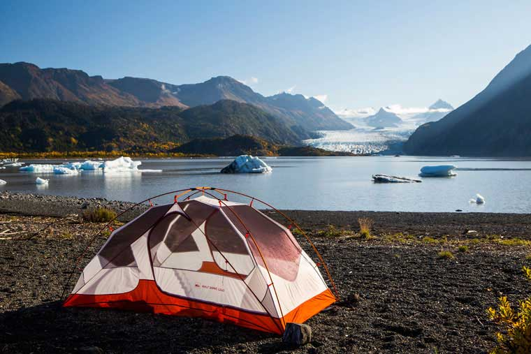 Camping in Kachemak Bay State Park © Wayde Carroll Photography