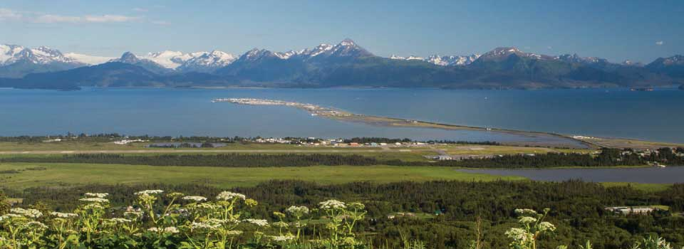 A view of the infamous Homer Spit © Wayde Carroll Photography