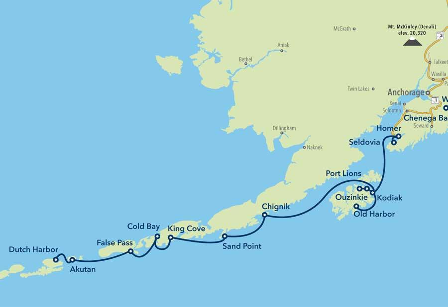 Unalaska Island Map Dutch Harbor | Alaska Ferry Community Information