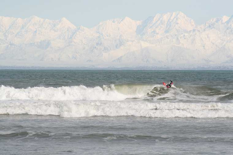 World class surfing is available in the Icy Waves of Yakutat bay © Icy Waves Surf Shop