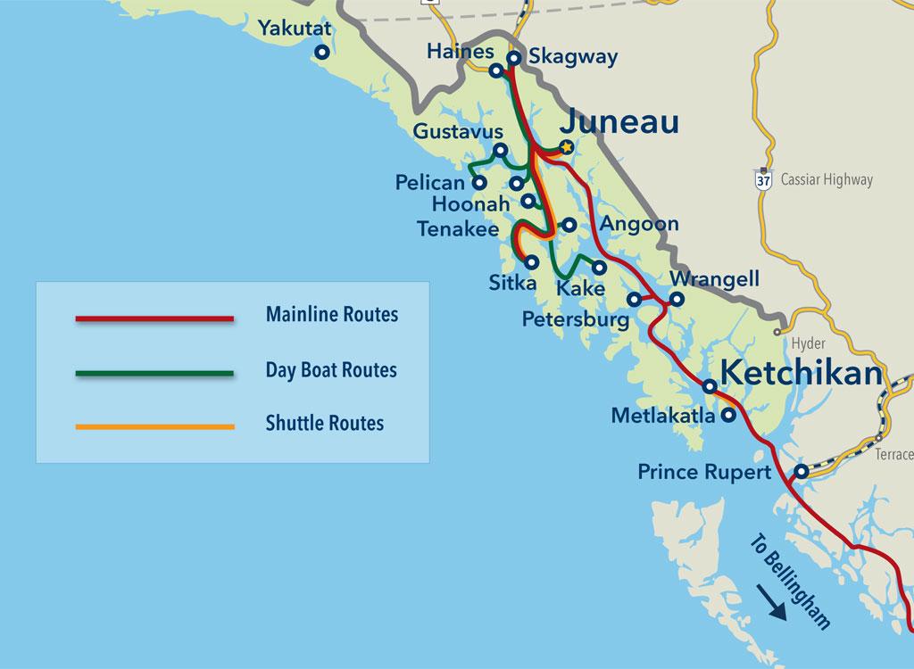 Alaska State Ferry Route | Alaska Marine Highway System