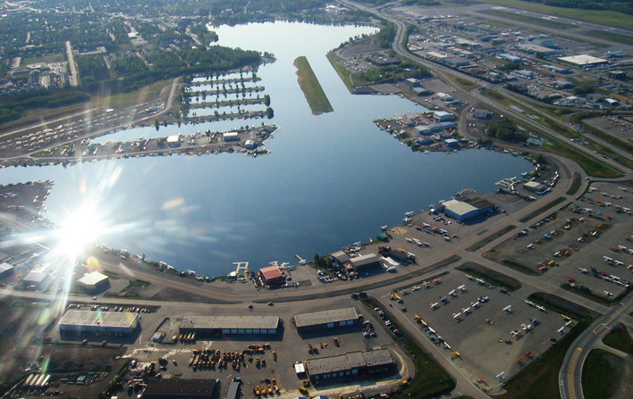 Lake Hood and Lake Spenard. Photo by Dan Hartman