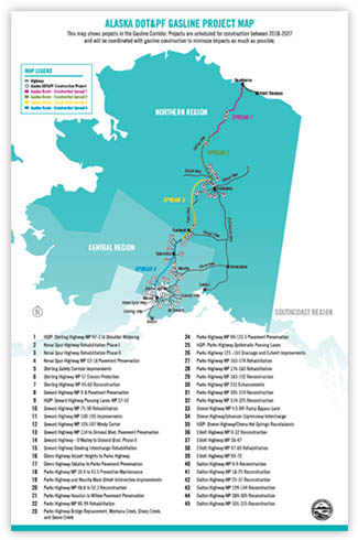 Click to download Alaksa DOT&PF Gasline Project Map PDF