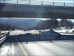 Click for larger photo of  Glenn Highway Overpass Repairs