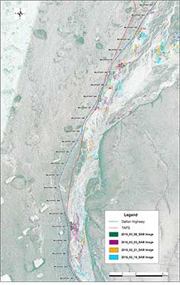 Dalton Highway satellite imagery