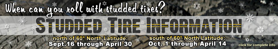 Studded Tire information