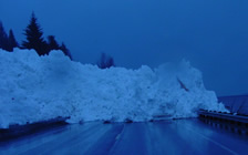 avalanche across road