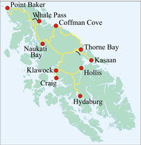 thorne bay alaska map Prince Of Wales Island Road System Scenic Byways Transportation