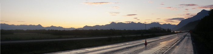Glenn Highway at Eklutna