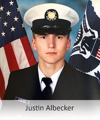 Click to learn more about veteran Justin Albecker